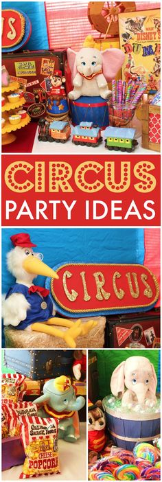 What a fantastic circus party with amazing decor! See more party ideas at CatchMyParty.com!