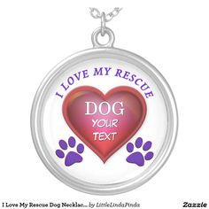 PERSONALIZED I Love My Rescue Dog Necklaces with your dog's BREED and or NAME CLICK: http://www.zazzle.com/i_love_my_rescue_dog_necklace_personalized-177256683165779640?rf=238147997806552929   See 7 points to consider before adopting a rescue dog and lots more Rescue Dog Gifts: http://giftsforcreativepeople.com/i-love-my-dog-rescue-shirts-why-you-should-rescue-a-dog/ Our Zazzle Gifts for Pet Lovers Store…