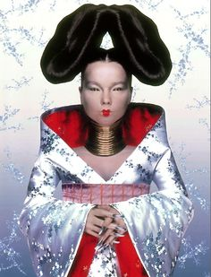 Bjork's Homogenic cover designed by Alexander McQueen