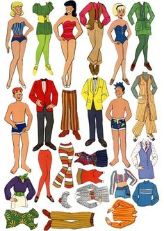 Archie Comic Paper Dolls, I used to have a set like this and the clothes stuck by stick electricity.