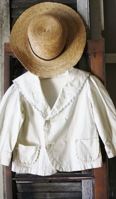 Little Scalloped French White Jacket by TheFarmhousePorch on Etsy, $38.00