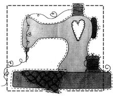 Molde para capa de máquina de costura