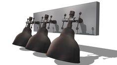 3 spots , maisons du monde, ref 130669 prix 99€ - 3D Warehouse