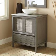vessel sink bathroom vanity - Google Search