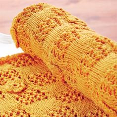 Knitted baby blanket free pattern