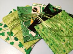 Assorted Greens St Patrick's Day Mini Fabric by HugsandHolidays - SOLD