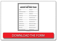 Interview your child every year so later you can look back on all the fun answers! FREE printable interview form!