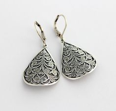 Sterling SIlver plated curved filigree by CobblestoneAvenue, $18.00