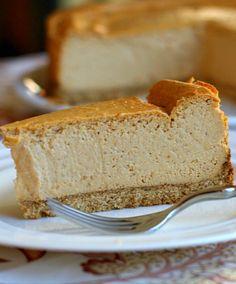 Low Fat Pumpkin Cheesecake   @recipegirl