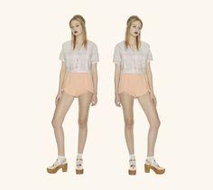 Cora Crop Top in Jacquard & Colette Shorts