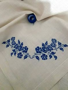 Cross Stitching, Crochet, Cushions, Cross Stitch Borders, Craft, Kitchen, Needlepoint, Punto De Cruz, Blue Nails