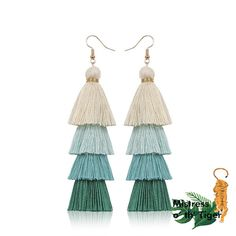 Bohemian Fringe Long Earrings These are stylish earrings you can pair with any outfit. Please allow weeks for delivery depending on location. Long Tassel Earrings, Fringe Earrings, Statement Earrings, Dangle Earrings, Tassel Jewelry, Affordable Jewelry, Look Chic, Tassels, Dangles