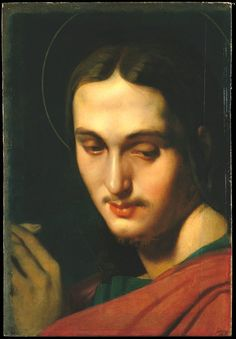 Head of Saint John the Evangelist by Jean Auguste Dominique Ingres, European Paintings Medium: Oil on canvas, laid down on wood Catharine Lorillard Wolfe Collection, Purchase, Bequest of Catharine. Saint John, St John The Evangelist, Auguste, Dominique, Portraits, European Paintings, Classic Image, Heritage Image, Metropolitan Museum