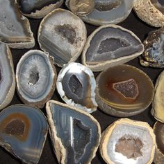 Geodes!! My Grandpa & I used to hunt for these at Geode State Park !!