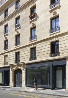 """""""The project of the rue Godefroy Cavaignac, in Paris, consisted in the rehabilitation of a degraded building into new social housing by h2o ..."""