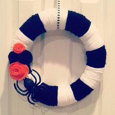 Halloween yarn wreath!