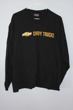 Chevrolet Chevy T Shirt Black Long Sleeve Mens Truck Steve and Barry's Silverado #SteveBarrys