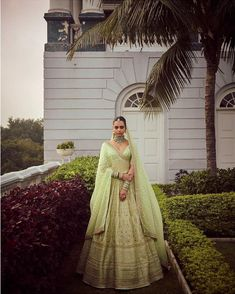 Sabyasachi just launched his 2020 new bridal collection. Sabyasachi Sultana Wedding Lehengas come in gorgeous new shades and you've got to see the dupatta! Wedding Dresses For Girls, Indian Wedding Outfits, Indian Outfits, Ethnic Outfits, Indian Attire, Indian Weddings, Indian Wear, Bridal Looks, Bridal Style