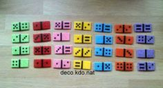 Domino game hama perler beads (with box pattern) by deco.kdo. nat