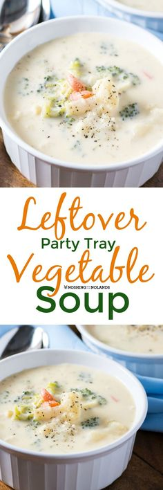 Leftover Party Tray Vegetable Soup by Noshing With The Nolands is a light and delicious soup that will use up those extra veggies. You can even serve this year round!