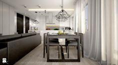 Mieszkanie z betonem - Jadalnia, styl nowoczesny - zdjęcie od TK Architekci Malaga, Living Room Interior, Kitchen, Table, Inspiration, Furniture, Home Decor, Living Room, Biblical Inspiration