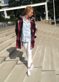 Nella Red Checker Coat