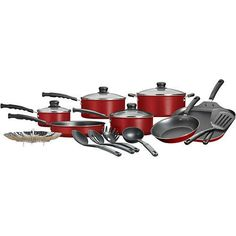 18-Piece Nonstick Cookware Set Mainstays *** Continue to the product at the image link.