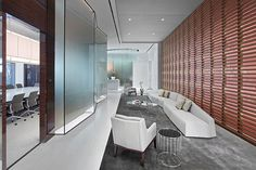 Paul Hastings ATL by Rottet Studio from Contract Magazine. The angled glass walls...contrasting the screen...nice