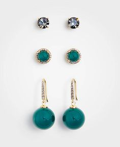 Shop Ann Taylor for effortless style and everyday elegance. Our Gift Boxed Earring Set is the perfect piece to add to your closet. Green Earrings, Stud Earrings, Taylor Gifts, Earring Set, Ann Taylor, Shopping, Jewelry, Style, Christmas