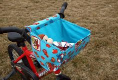 boys bicycle basket tutorial from A Lemon Squeezy Home