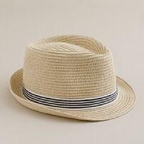 stripe band hat