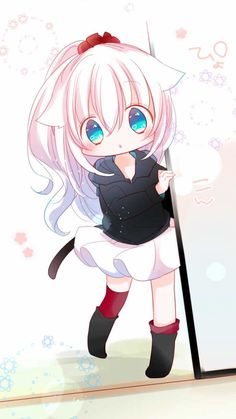 Anime Girl Neko, Cute Neko Girl, Art Anime Fille, Chica Gato Neko Anime, Chibi Girl, Anime Girl Cute, Anime Art Girl, Manga Kawaii, Loli Kawaii