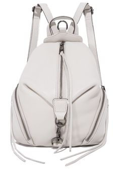 medium julian backpack by Rebecca Minkoff. A scaled down version of the signature Rebecca Minkoff backpack. Magnetic back pocket. Zips accent the curved side po...