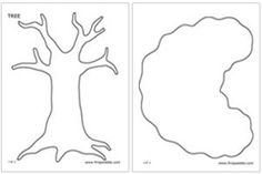 Printable tree templates, these will be perfect for my apple and leaf letter matching trees!