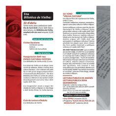 Programa de Actividades Sant Jòrdi para los días 22 y 23 de abril -en #Vielha #ValDAran #SantJordi #VielhaCultura · vía  http://www.vielha-mijaran.org/