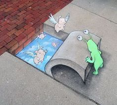 Chalk Street Art by David Zinn, http://hative.com/chalk-street-art-by-david-zinn/,