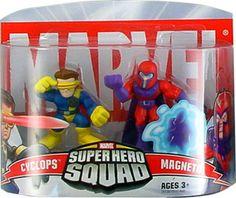 Marvel Superhero Squad Cyclops & Magneto Mini Figure 2-Pack super hero, marvel mini figures, sabbyz board, superhero squad, figur 2pack, da marvel, favorit toy, marvelici super, boneco da