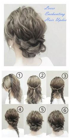 Lots of charming updos # charming # updos # diy hairstyles - Claire C. - # charming Informations About Lose bezaubernde Hochsteckfrisuren . Pin You can e Up Dos For Medium Hair, Medium Hair Styles, Curly Hair Styles, Hair Updos Short Hair, Diy Wedding Updos For Long Hair, Red Hair Updo, Simple Hair Updos, Curly Updos For Medium Hair, Pageant Hair Updo
