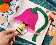 Busy Book Toddler Gift - Felt Quiet Book - Soft Book - Quiet Book for Toddler - Busy Book - Activity Book - Felt Quiet Book