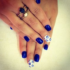 Nails #nails #blue #rings