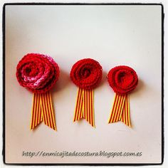 Tatadelacasa: Rosa de Sant Jordi (patrón ganchillo)