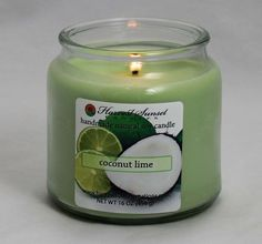 Coconut Lime Soy Candle by Harvest Sunset Candle
