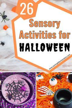 Fall Preschool Activities, Halloween Activities For Kids, Fun Crafts For Kids, Sensory Activities, Halloween Themes, Preschool Halloween, Sensory Bins, Sensory Play, Creative Arts And Crafts