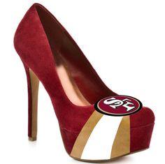 HERSTAR Women's San Francisco 49ers High Heel Suede Pumps