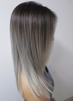 Grey ombre hair ideas to rock this year. Grey ombre hair is one of the most infl. - - Grey ombre hair ideas to rock this year. Grey ombre hair is one of the most influential recent color trends. Stylists state unanimously that it is an . Grey Hair Looks, Grey Ombre Hair, Ash Ombre, Grey Blonde, Blonde Ombre, Blonde Hair, Brown Grey Ombre, Ombre Silver Hair, Blonde Shades