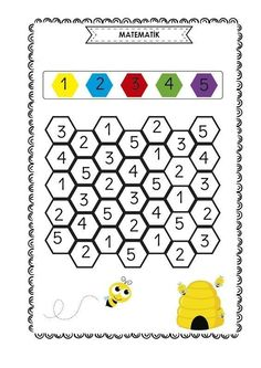 Professor& Notebook: Activity Sheets -Beautiful Little Girls II , Preschool Writing, Numbers Preschool, Preschool Learning Activities, Kids Learning, Kindergarten Math Worksheets, Worksheets For Kids, Math Literacy, Math For Kids, Kids Education