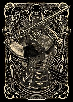 samurai by Deni Dessastra, via Behance