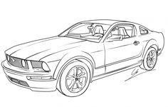 Drawing Mustang Coloring page
