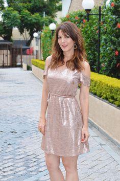 Dress dourado cute