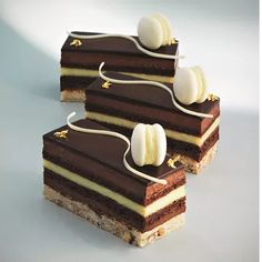 Master patissier and chocolatier William Curley shares this recipe for a citrus slice from his latest book, Patisserie. Elegant Desserts, French Desserts, Beautiful Desserts, French Food, Gourmet Desserts, Plated Desserts, Delicious Desserts, Sweet Recipes, Cake Recipes